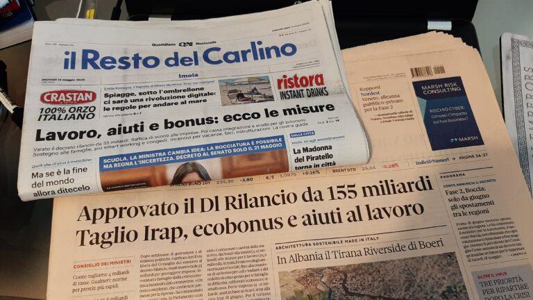 I giornali parlano dell' Ecobonus 110%